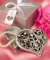 Exquisite Heart Shaped Trinket Box